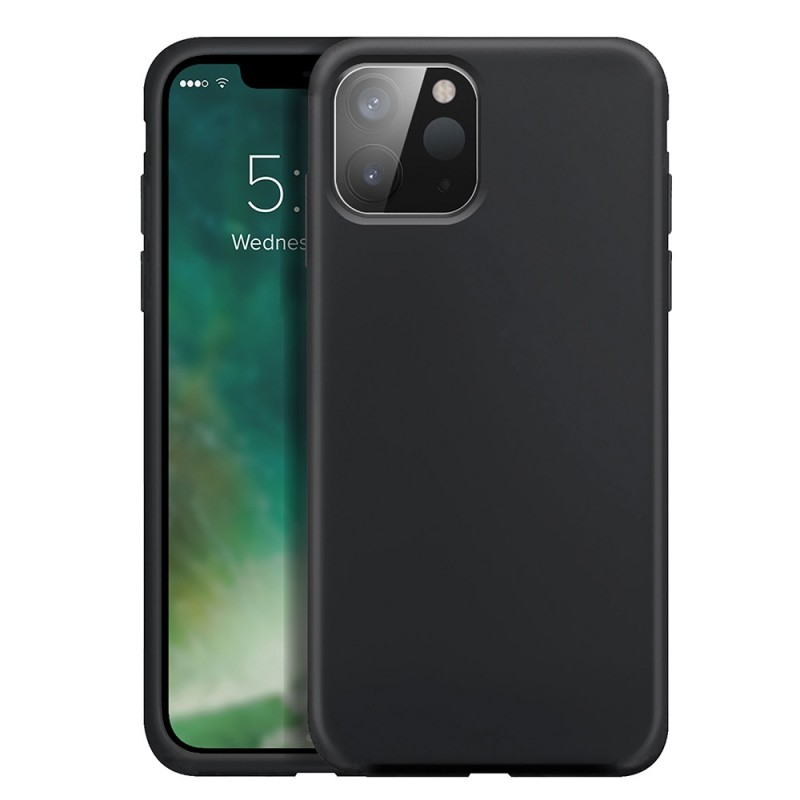 Xqisit Silicone Case iPhone 12 Pro Max 6.7 inch Zwart 01
