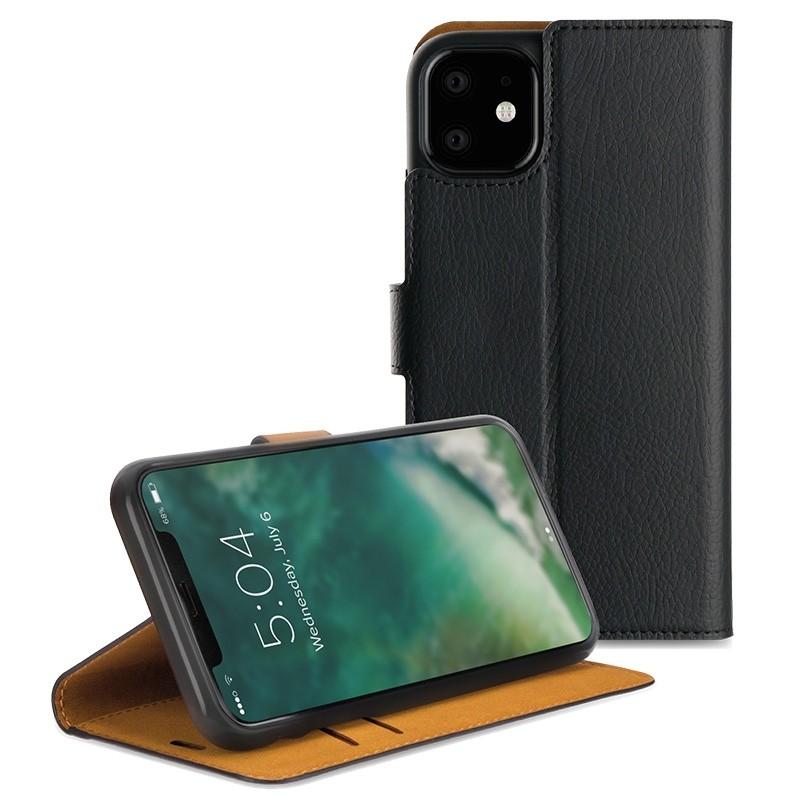 Xqisit Slim Wallet Selection iPhone 11 Hoesje Zwart - 1