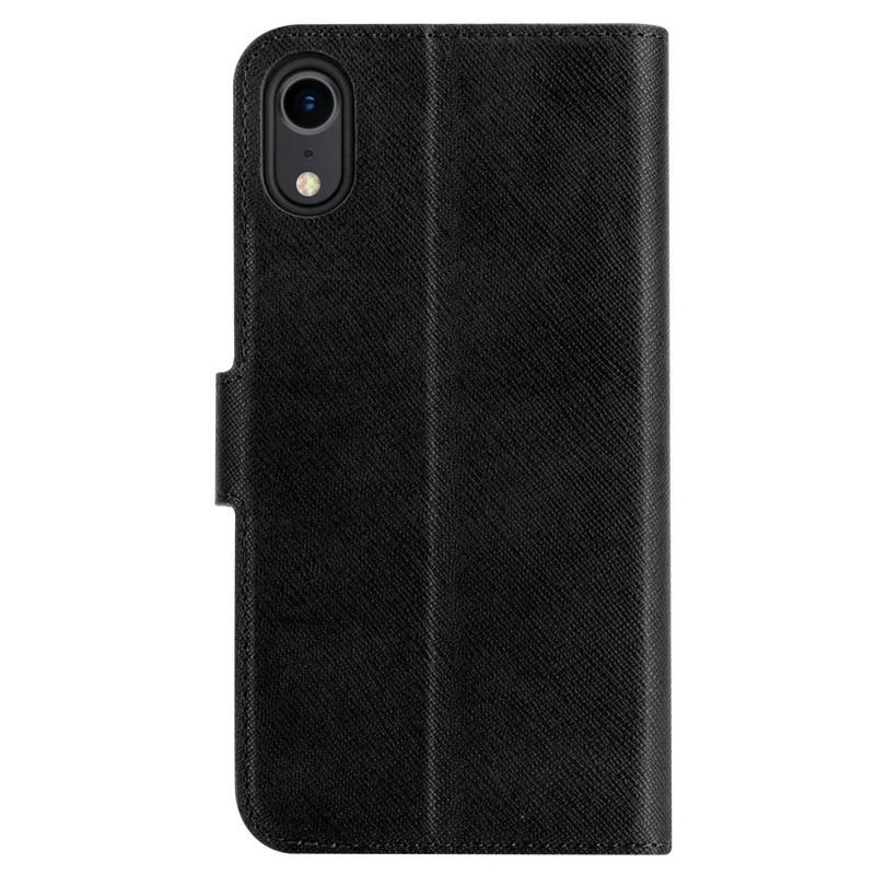 Xqisit Wallet Case Viskan iPhone XR Zwart 02
