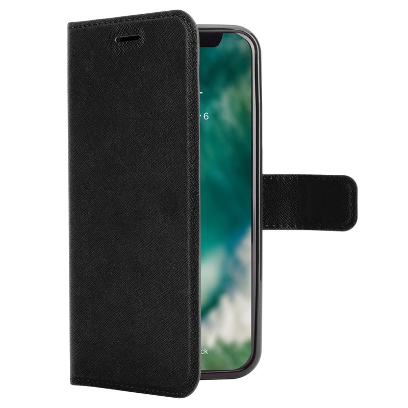 Xqisit Wallet Case Viskan iPhone XR Zwart 01