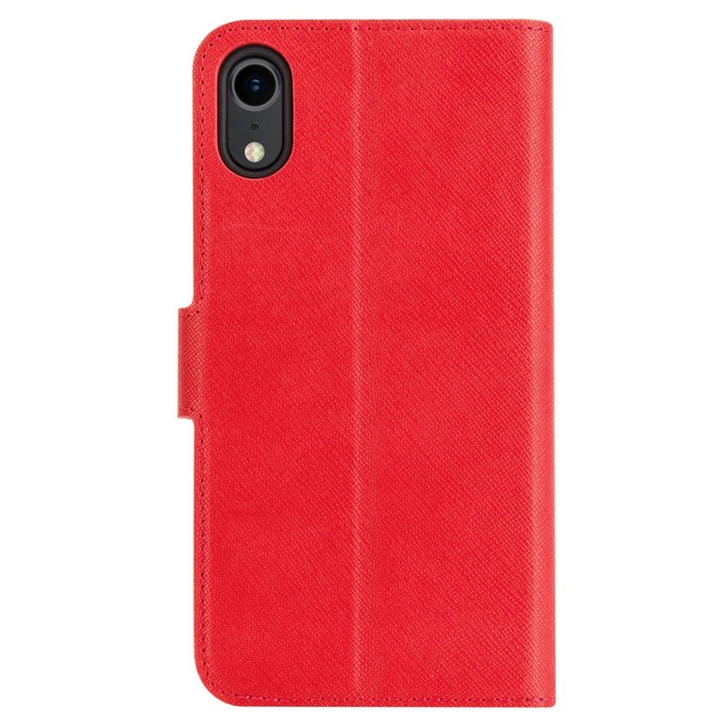 Xqisit Wallet Case Viskan iPhone XR Rood 02