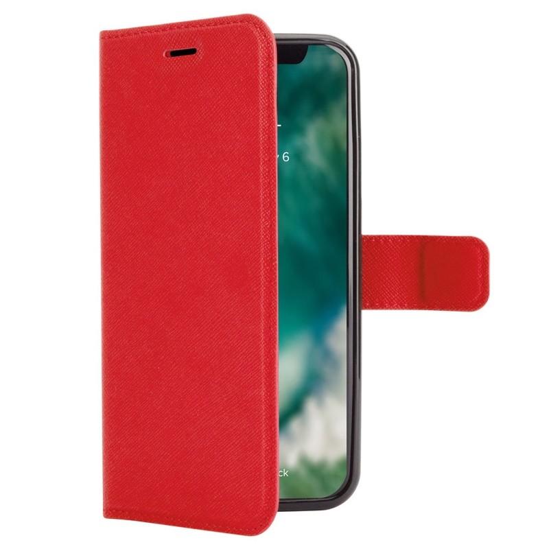 Xqisit Wallet Case Viskan iPhone XR Rood 01