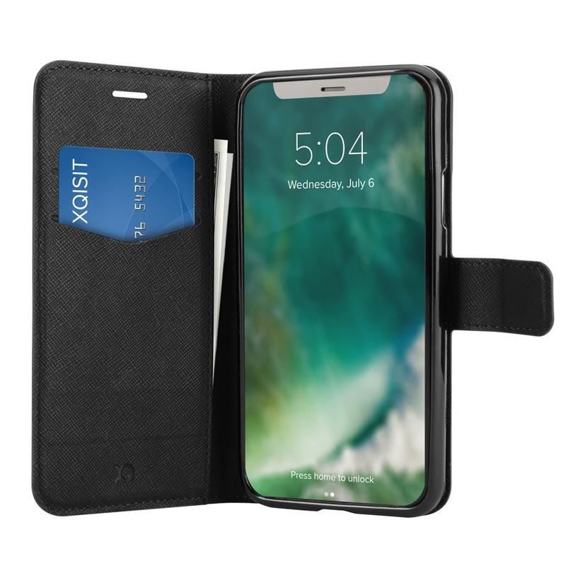 Xqisit Wallet Case Viskan iPhone XS Max Hoesje Black 01