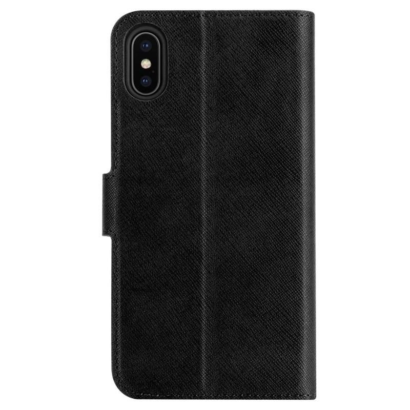 Xqisit Wallet Case Viskan iPhone XS Max Hoesje Black 02