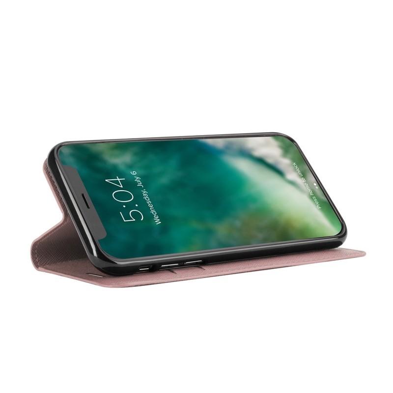 Xqisit Wallet Case Viskan iPhone XS Max Hoesje Roze 03