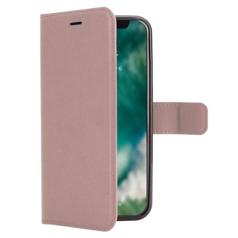 Xqisit Wallet Case Viskan iPhone XS Max Hoesje Roze 04