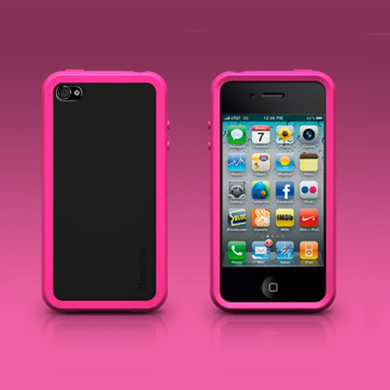 XtremeMac TuffWrap Accent iPhone 4 Pink - 2