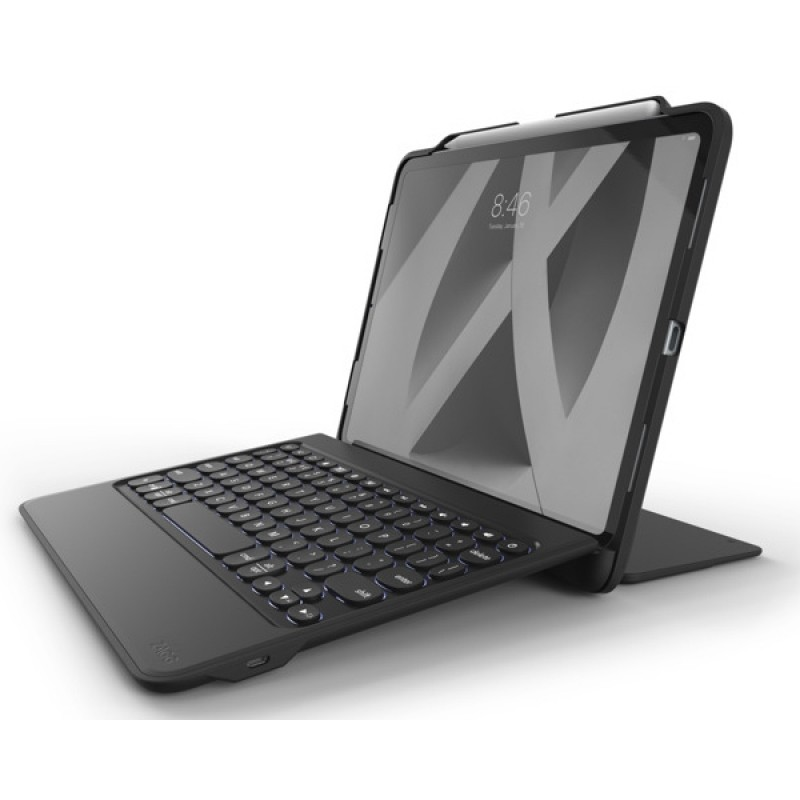 Zagg Rugged Book Go Toetsenbord Hoes iPad Pro 11 inch (2018) zwart