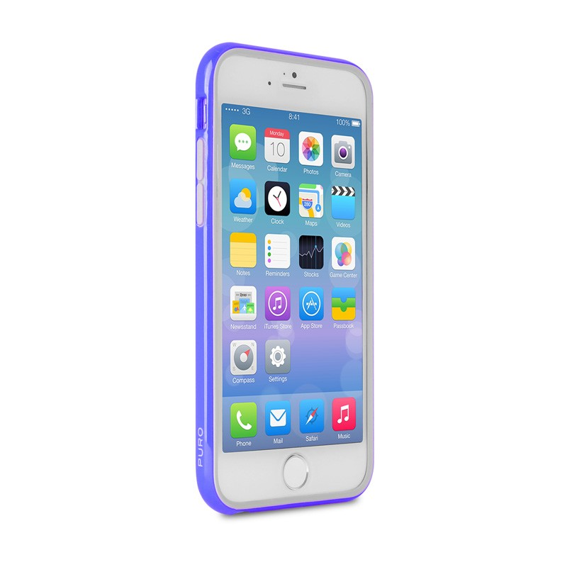 Puro Bumper Case iPhone 6 Blue - 4