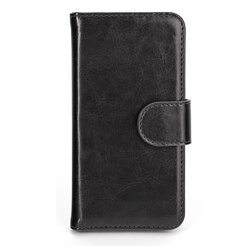 Xqisit - Wallet Case Eman iPhone SE / 5S / 5 Black 02
