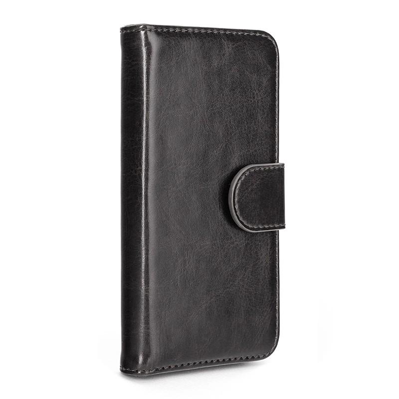 Xqisit - Wallet Case Eman iPhone SE / 5S / 5 Black 01