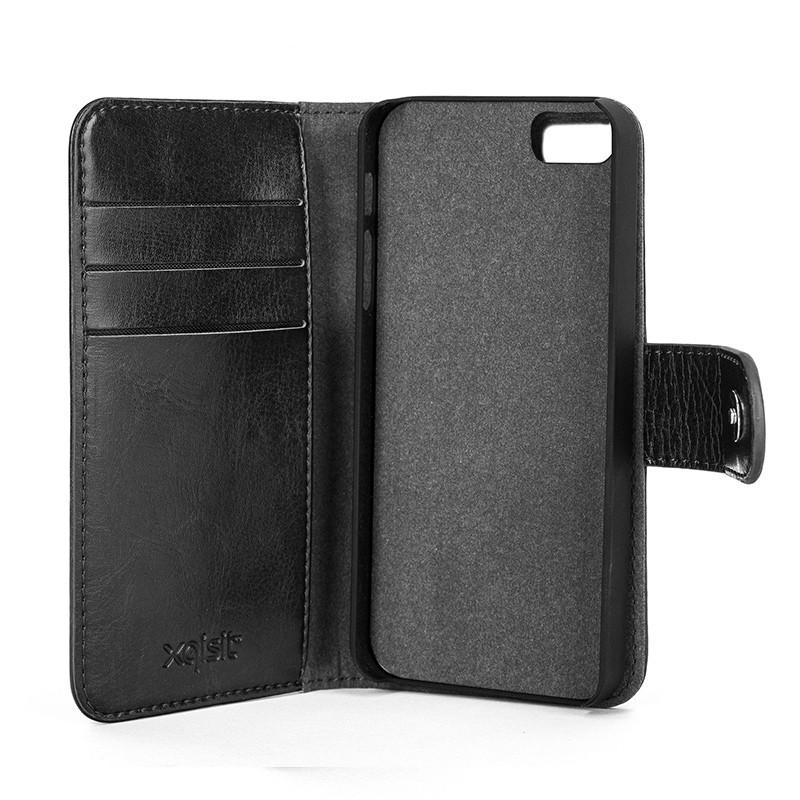 Xqisit - Wallet Case Eman iPhone SE / 5S / 5 Black 05