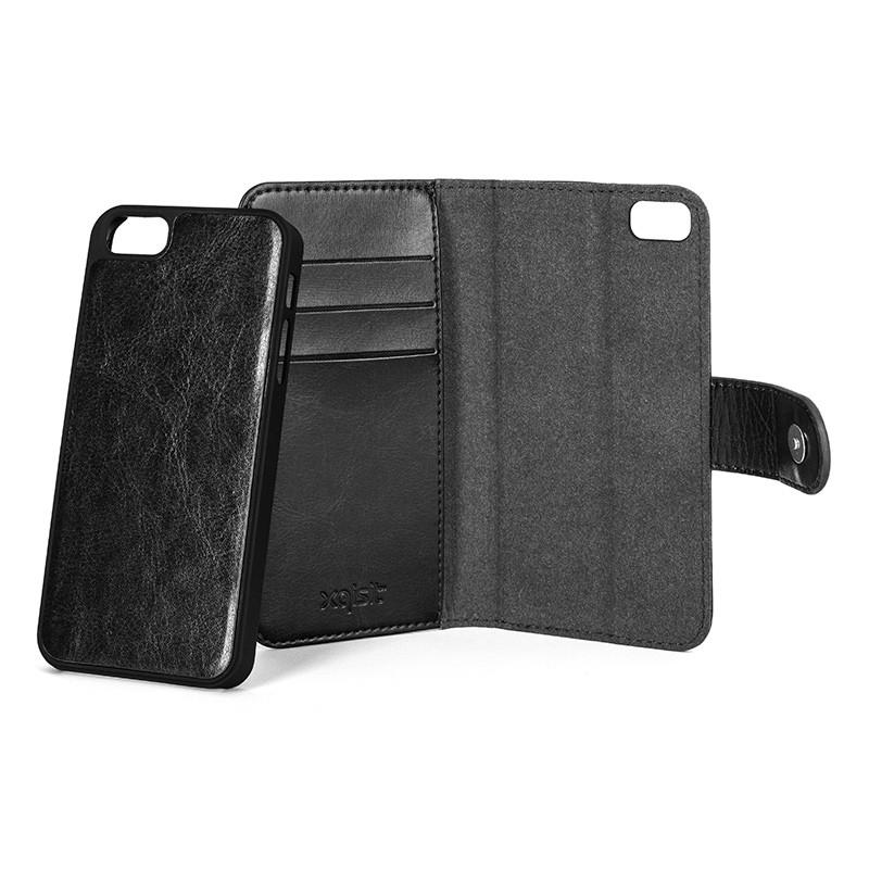 Xqisit - Wallet Case Eman iPhone SE / 5S / 5 Black 06
