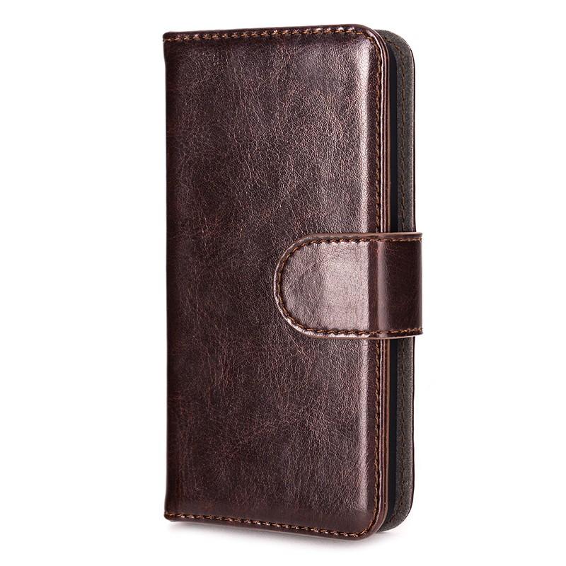 Xqisit - Wallet Case Eman iPhone SE / 5S / 5 Brown 04
