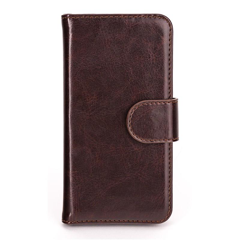 Xqisit - Wallet Case Eman iPhone SE / 5S / 5 Brown 02