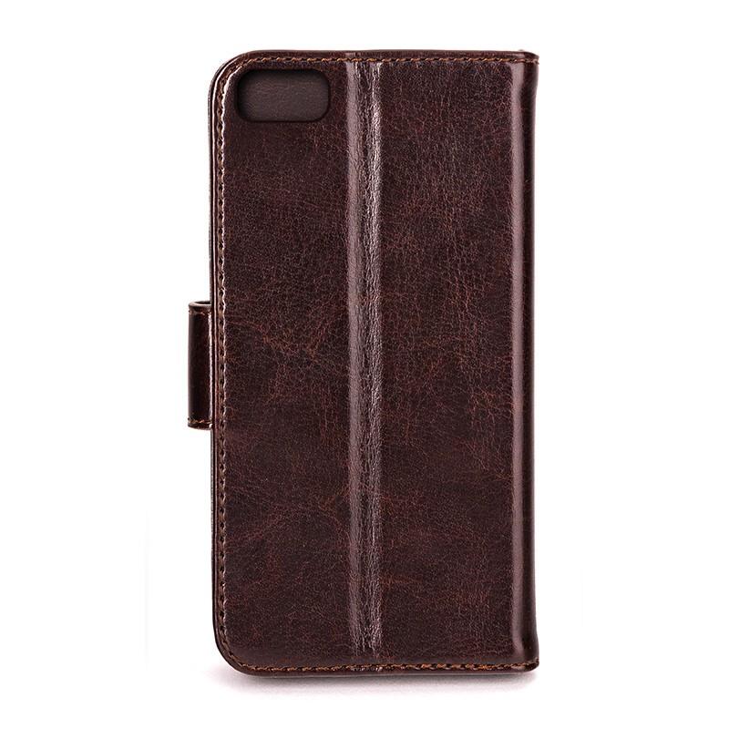 Xqisit - Wallet Case Eman iPhone SE / 5S / 5 Brown 03