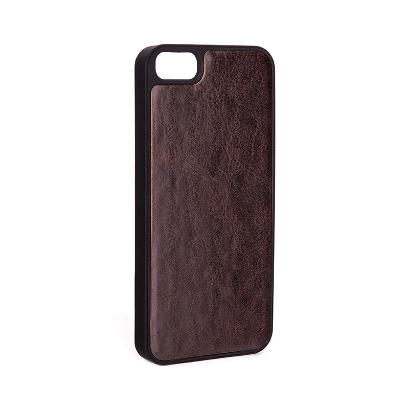 Xqisit - Wallet Case Eman iPhone SE / 5S / 5 Brown 08