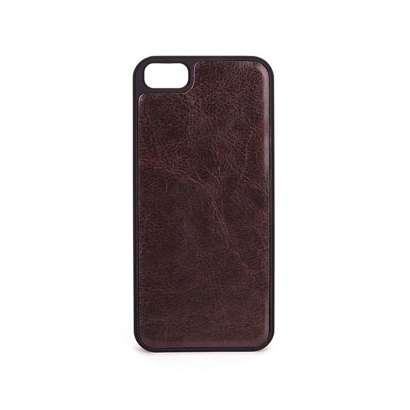 Xqisit - Wallet Case Eman iPhone SE / 5S / 5 Brown 09