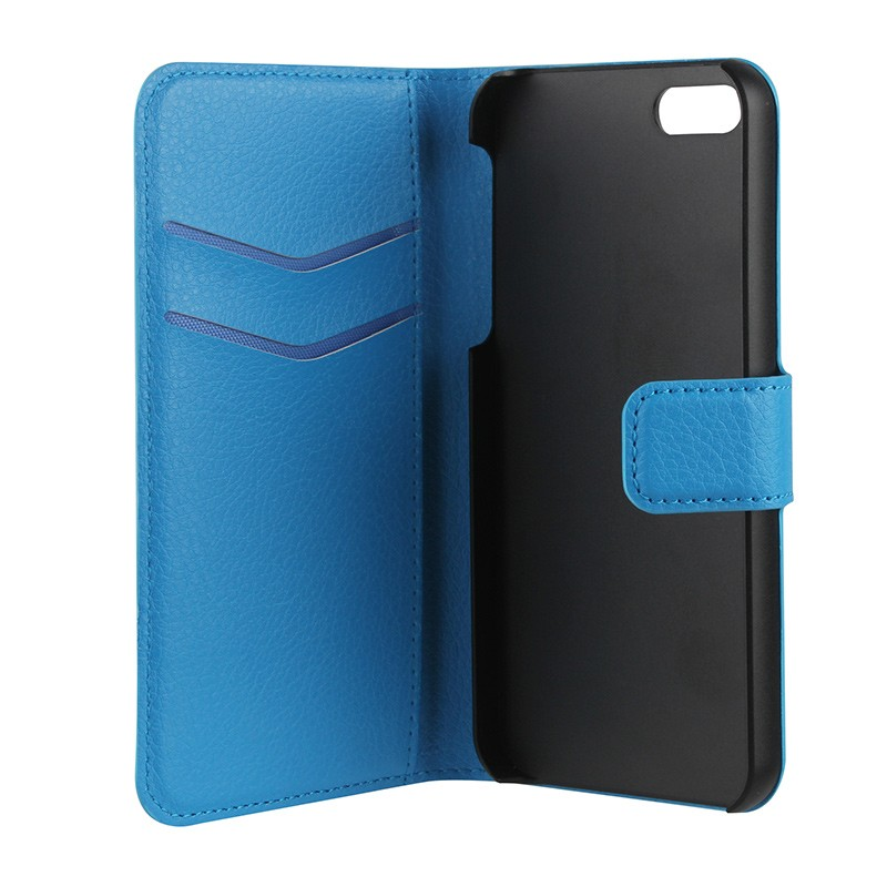 Xqisit - Slim Wallet Case iPhone SE / 5S / 5 Blue 06