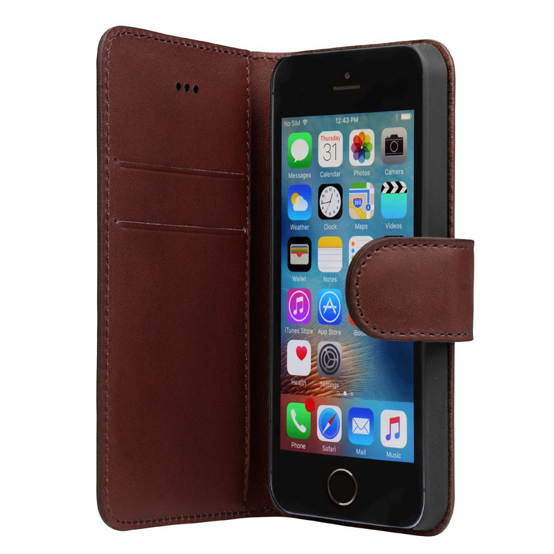 Bugatti - Book Case Milano iPhone SE/5S/5 Brown 04