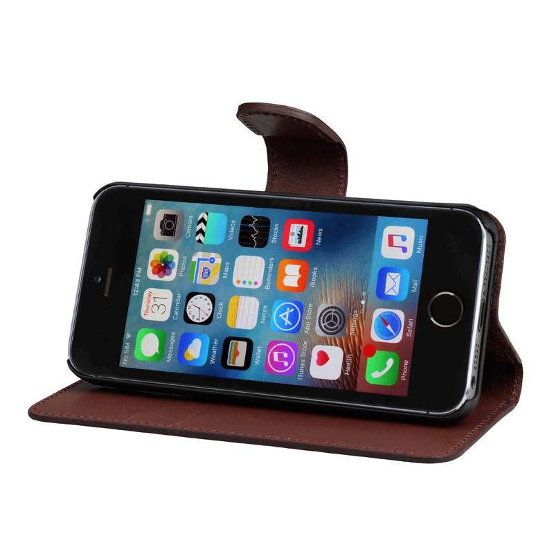 Bugatti - Book Case Milano iPhone SE/5S/5 Brown 03