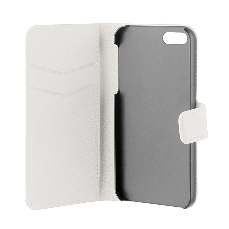Xqisit - Wallet Case Viskan iPhone SE / 5S / 5 white 06