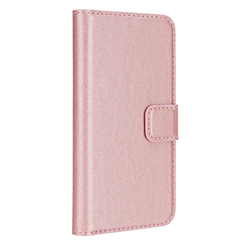 Xqisit - Wallet Case Viskan iPhone SE / 5S / 5 Pink 01