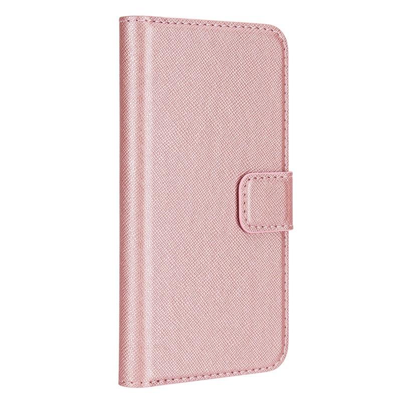 Xqisit - Wallet Case Viskan iPhone SE / 5S / 5 Pink 01