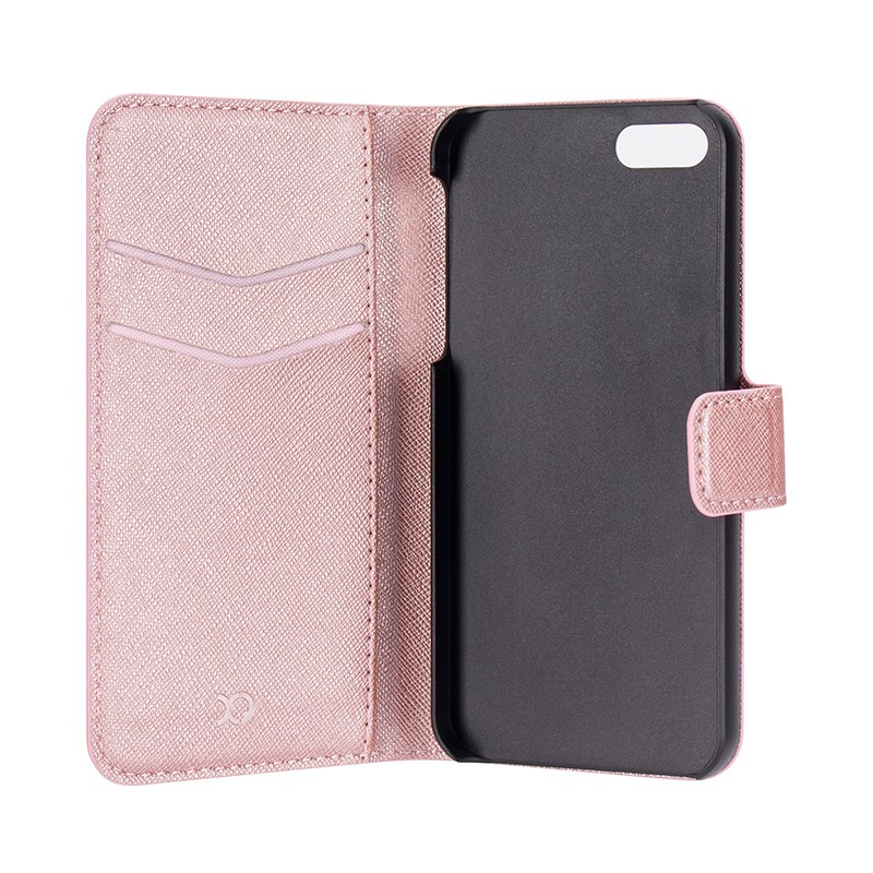 Xqisit - Wallet Case Viskan iPhone SE / 5S / 5 Pink 05