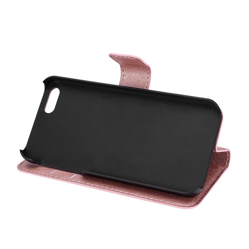 Xqisit - Wallet Case Viskan iPhone SE / 5S / 5 Pink 06