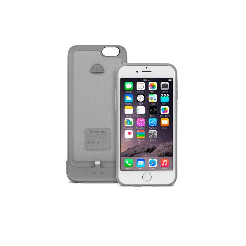 Moshi - iGlaze Ion Batterij Case iPhone 6 / 6S Brushed Titanium 02