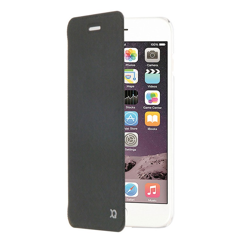 Xqisit Flap Cover Adour iPhone 7 Plus hoes Black 01