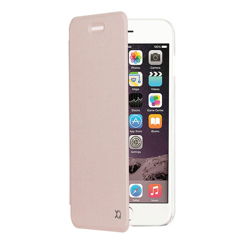 Xqisit Flap Cover Adour iPhone 7 hoes RoseGold 01