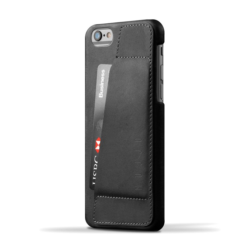 Mujjo Leather Wallet Case 80 iPhone 6 Black - 1