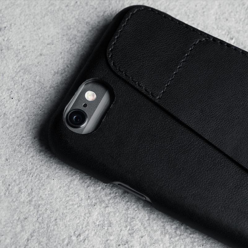 Mujjo Leather Wallet Case 80 iPhone 6 Black - 2