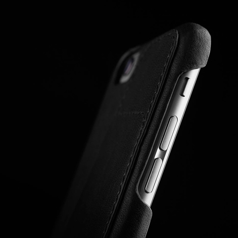Mujjo Leather Wallet Case 80 iPhone 6 Black - 8
