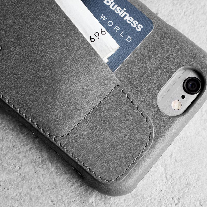 Mujjo Leather Wallet Case 80 iPhone 6 Plus Grey - 5