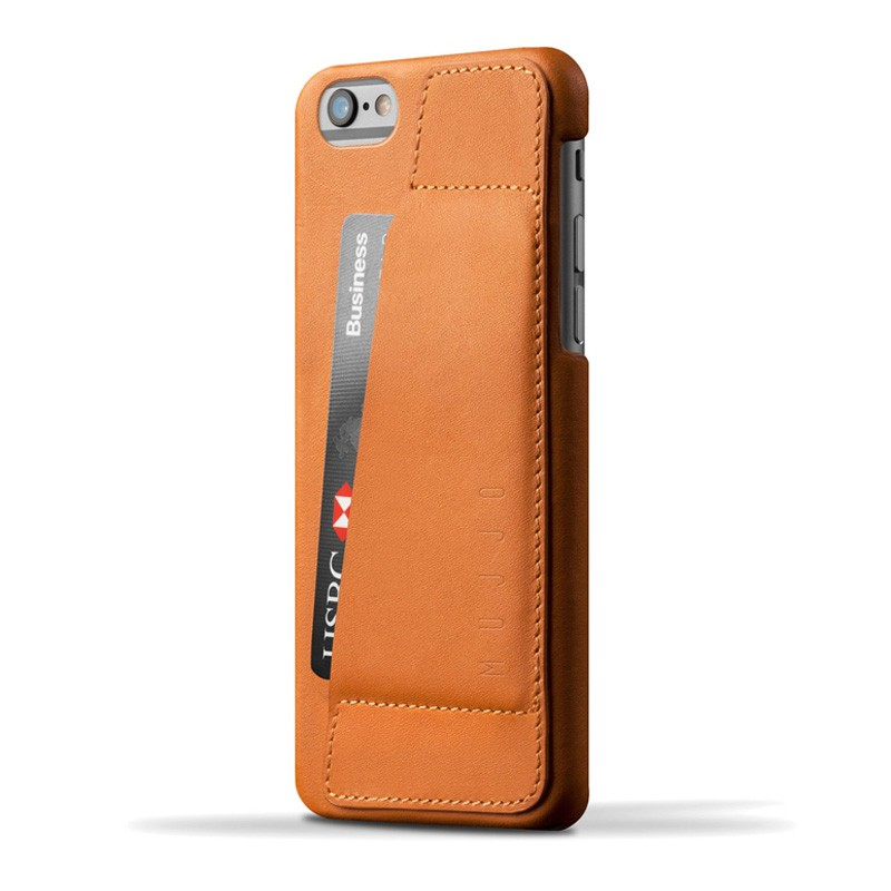 Mujjo Leather Wallet Case 80 iPhone 6 Plus Brown - 1