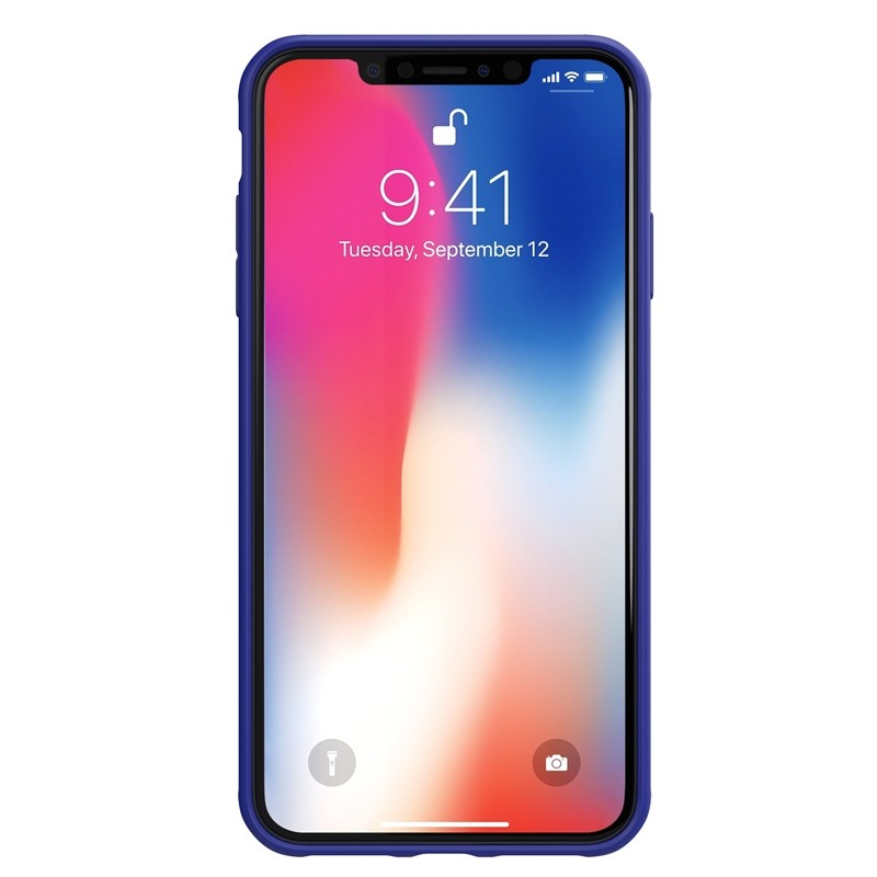 Adidas Grip Case iPhone XS Max hoes Blauw 02