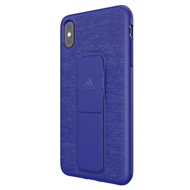 Adidas Grip Case iPhone XS Max hoes Blauw 04