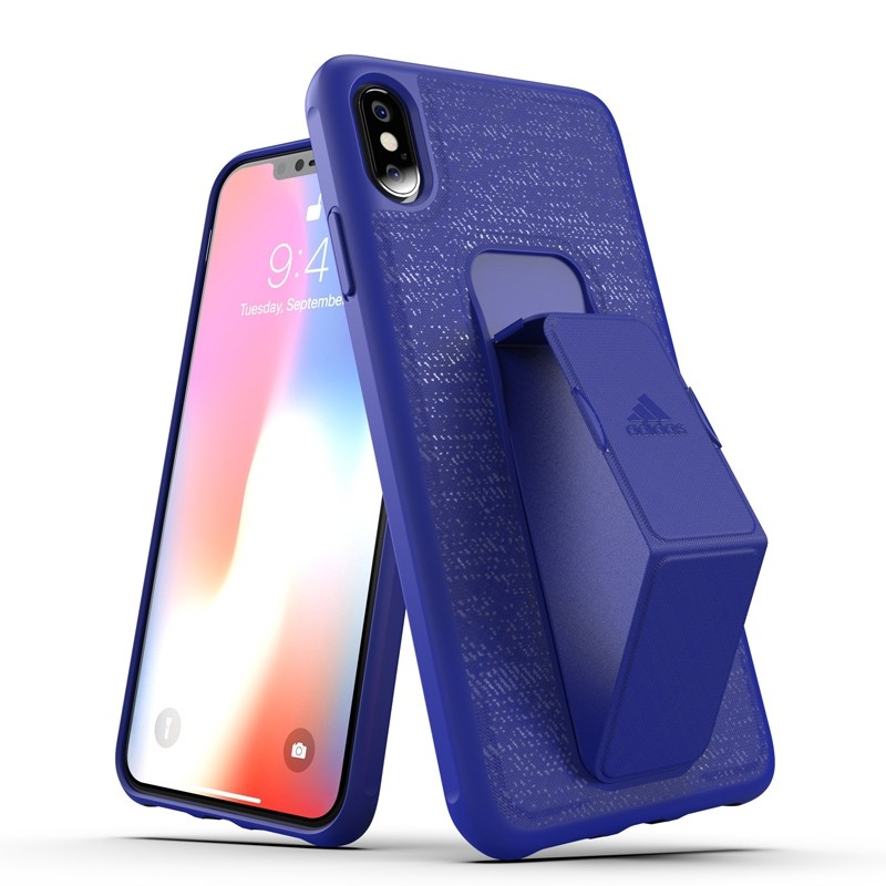 Adidas Grip Case iPhone XS Max hoes Blauw 03