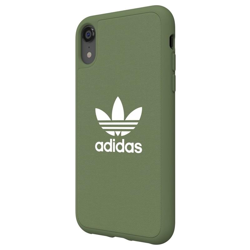 Adidas Moulded Case Canvas iPhone Xr olijfgroen 04