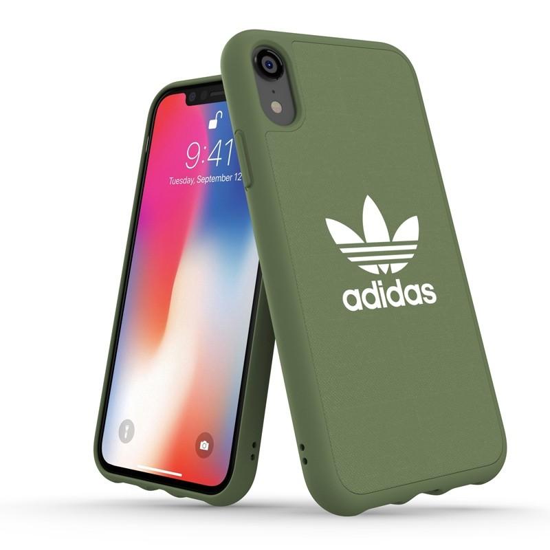 Adidas Moulded Case Canvas iPhone Xr olijfgroen 03