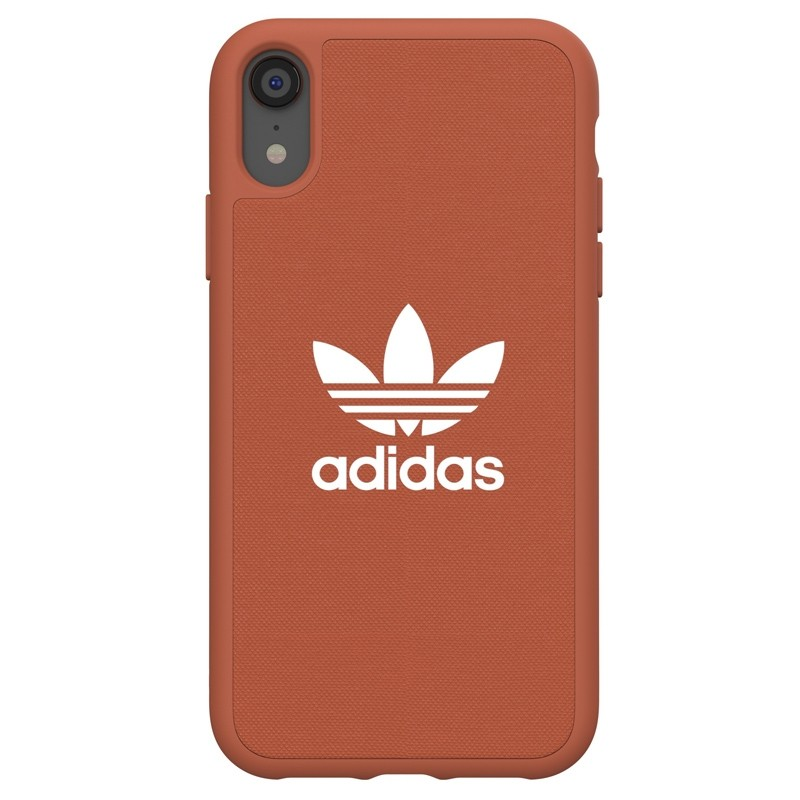 Adidas Moulded Case Canvas iPhone Xr oranje 01