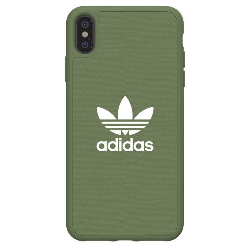 Adidas Moulded Case Canvas iPhone XS Max hoesje donker groen 01