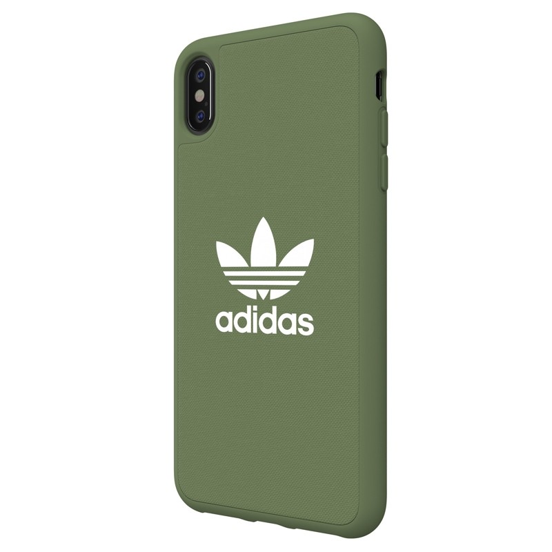 Adidas Moulded Case Canvas iPhone XS Max hoesje donker groen 04