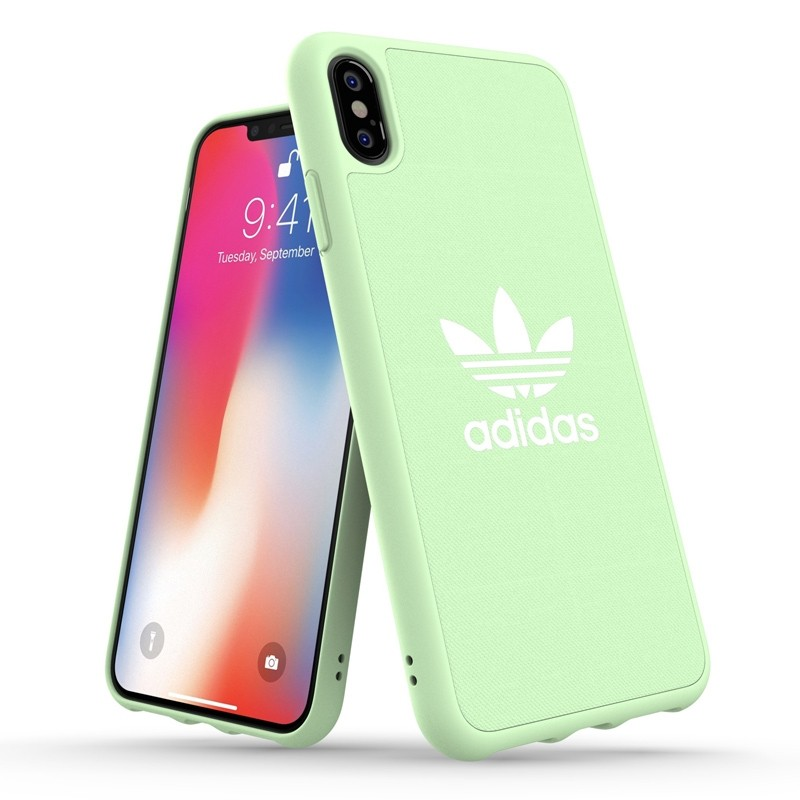 Adidas Moulded Case Canvas iPhone XS Max hoesje groen 03
