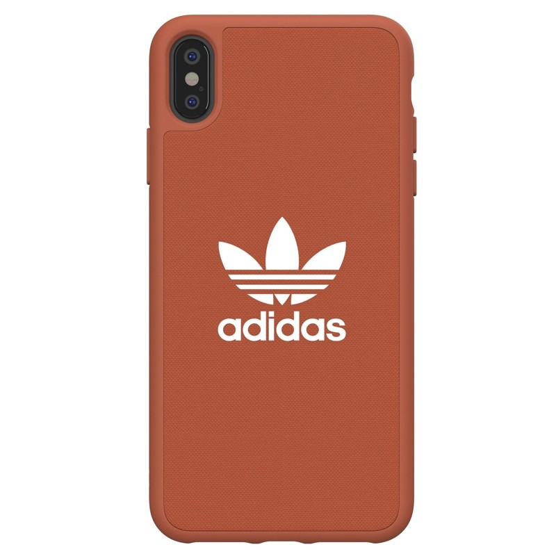 Adidas Moulded Case Canvas iPhone XS Max oranje 01