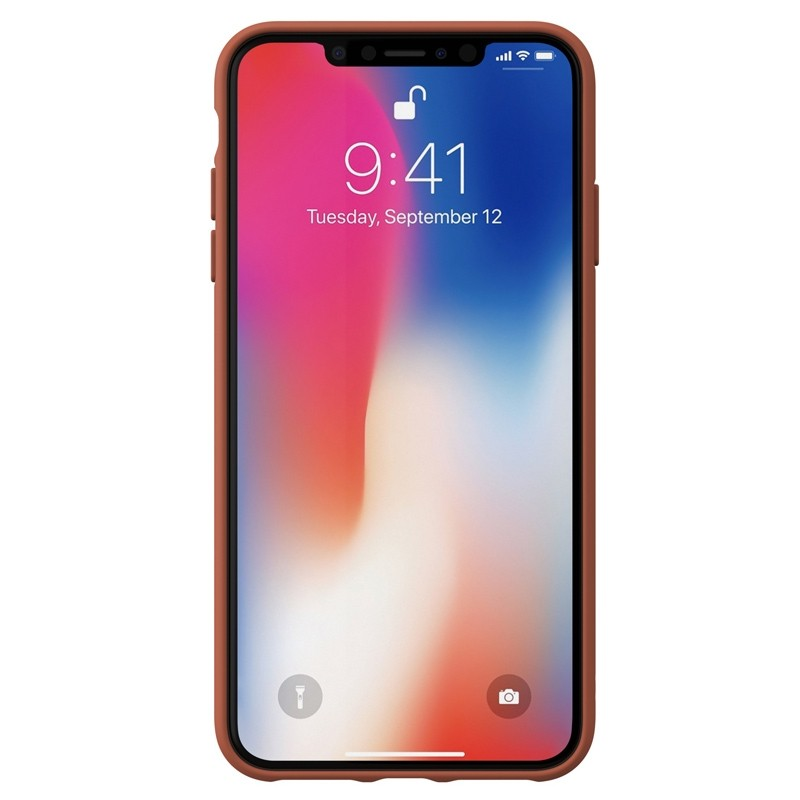 Adidas Moulded Case Canvas iPhone XS Max oranje 02