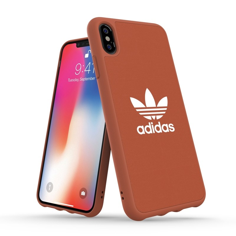 Adidas Moulded Case Canvas iPhone XS Max oranje 03